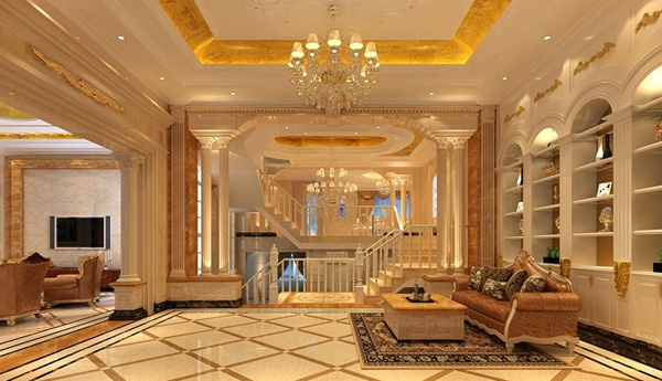现代中式客厅装修效果图 天俊华府-三居室-136平米-客厅装修效果图图片