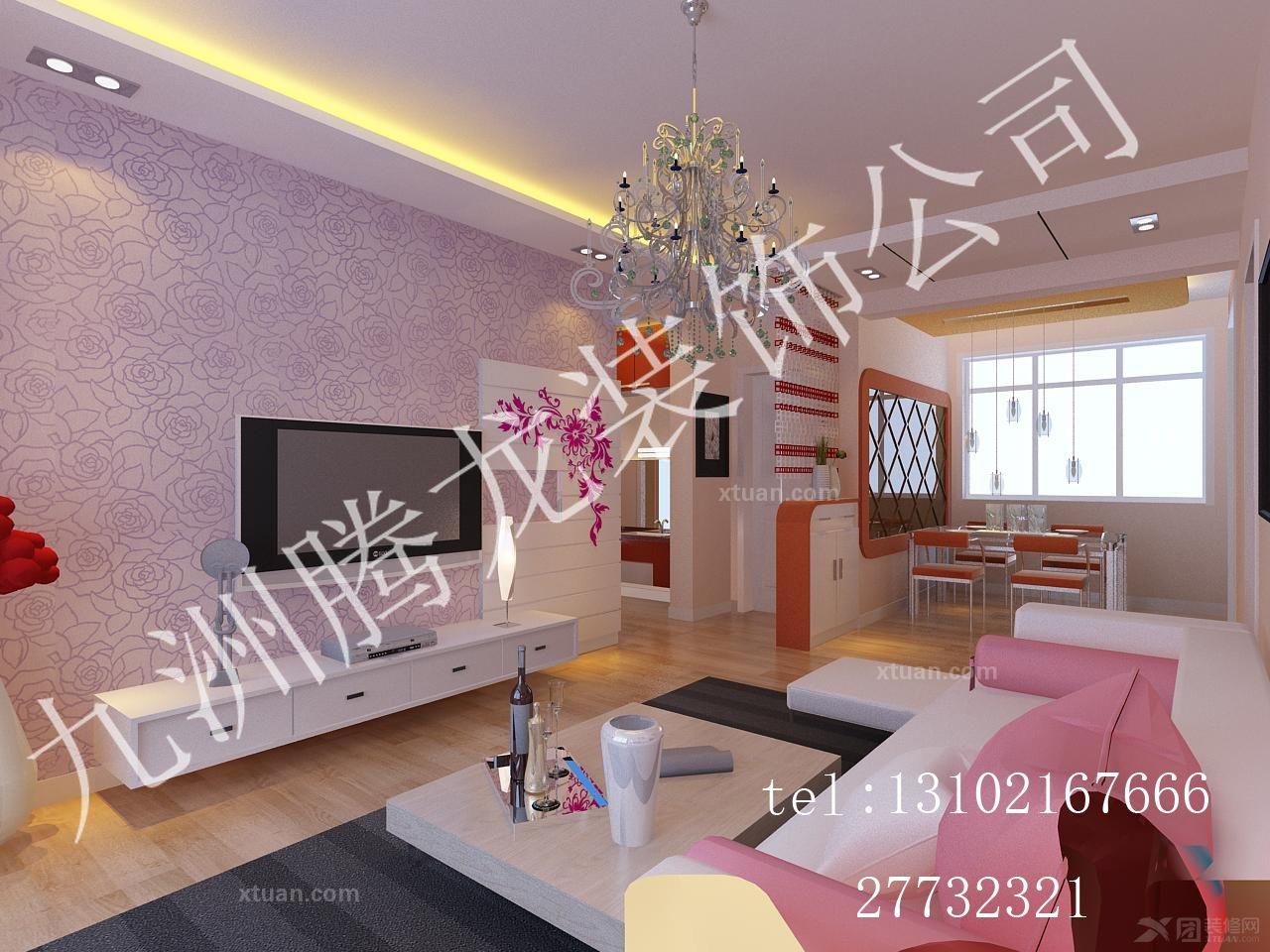 三室一厅简约风格客厅_华亭国际图片