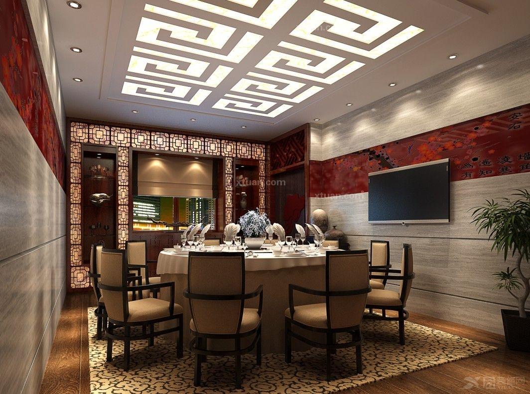 中式风格_春满人间装饰-官井酒楼装修效果图-x团装修网图片