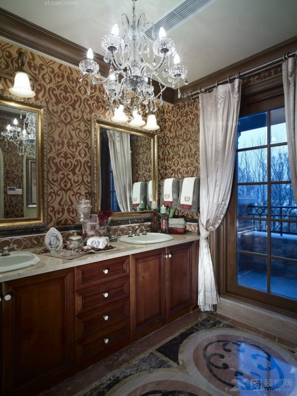 别墅美式风格厨房_杭州郡原列岛别墅样板间设计方案