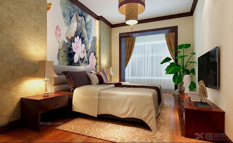 长沙实创装饰-102平新中式风格-装修设计图