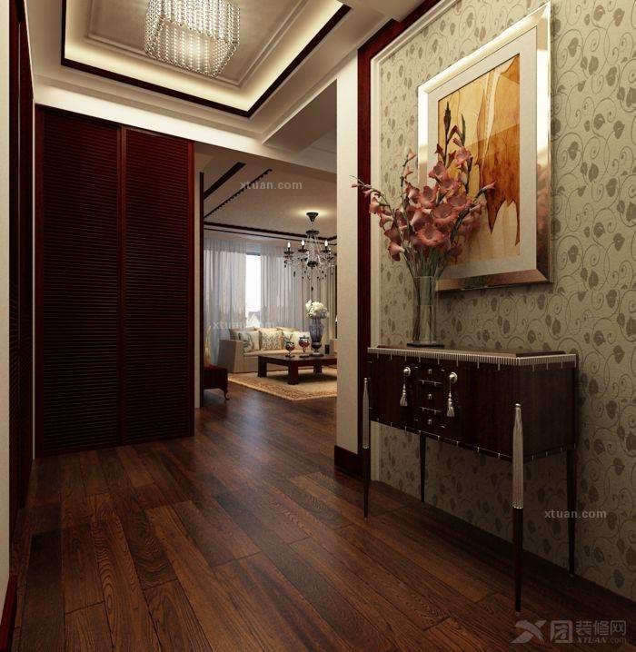中式风格婚房 远洋和平府装修效果图 X团装修网高清图片