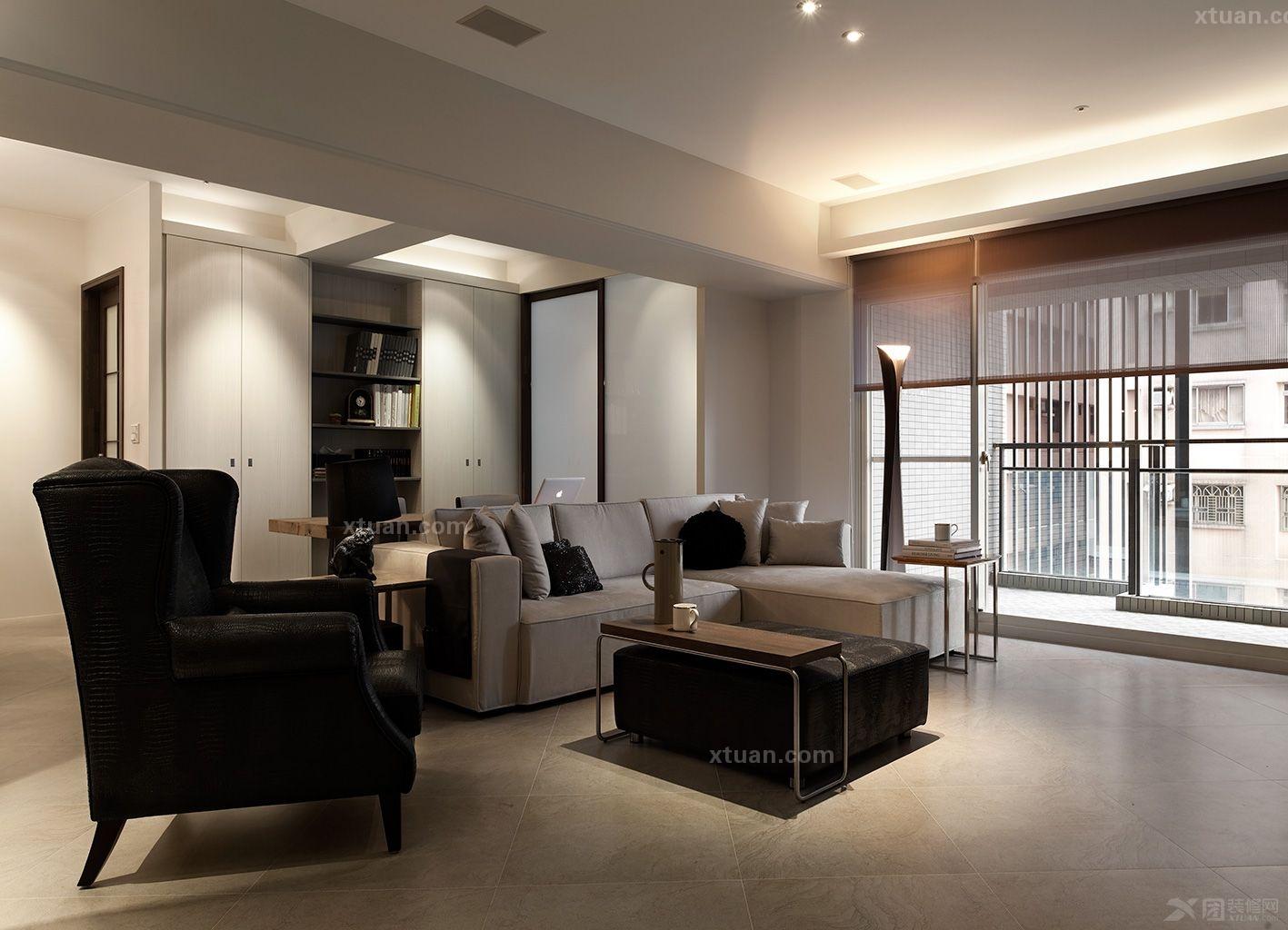 四居室现代风格客厅; 半岛城邦装修效果图;;图片