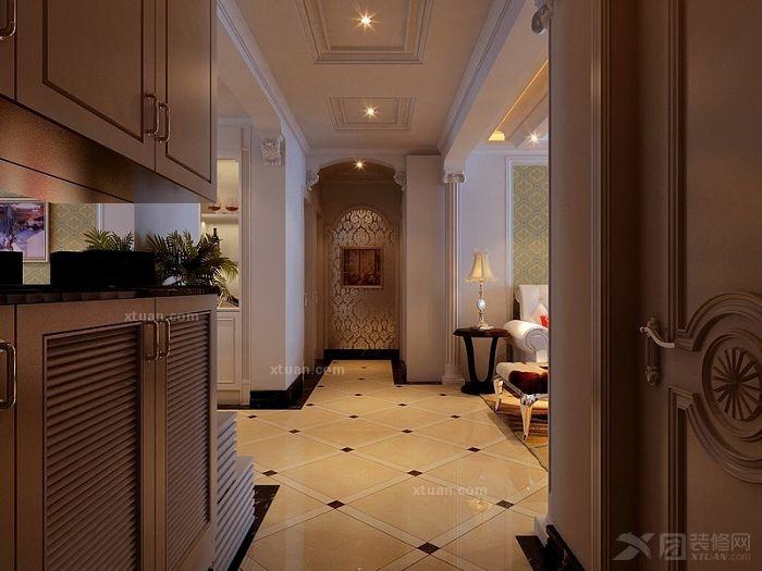 客厅走廊铺砖走廊连客厅铺砖效果图图片15