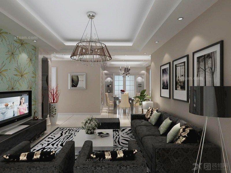 三室两厅欧式风格客厅_福园名邸装修效果图-x团装修网