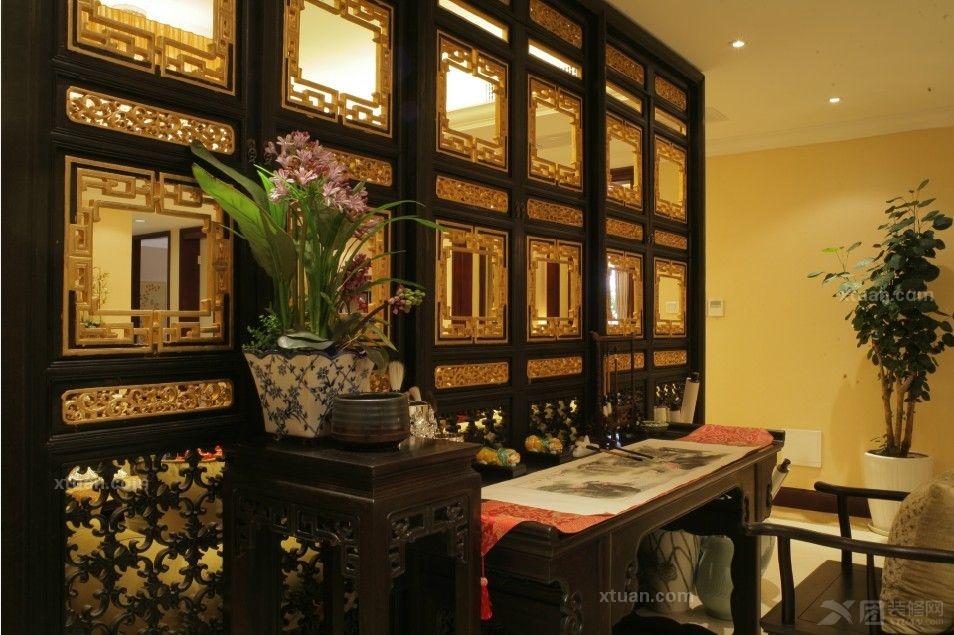上海祥生御江湾大平层中式风格实景拍摄装修效果图图片