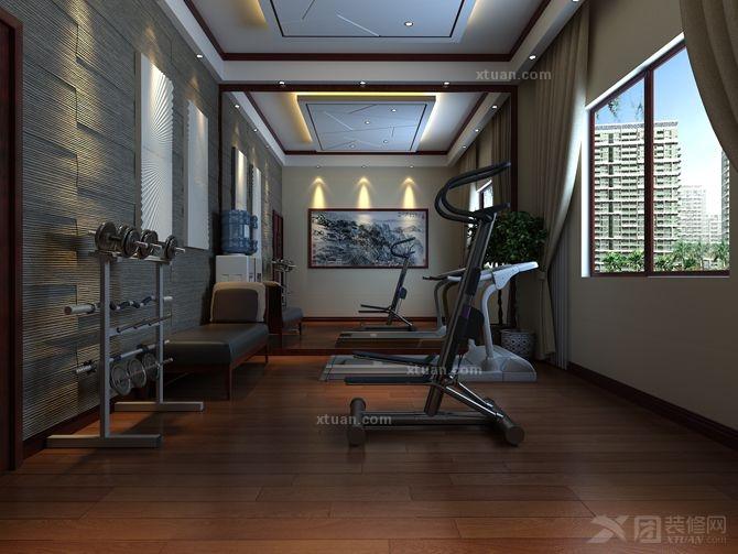 区装修效果图  户型:别墅 房间:休闲区 风格:中式风格 装修类型:家装