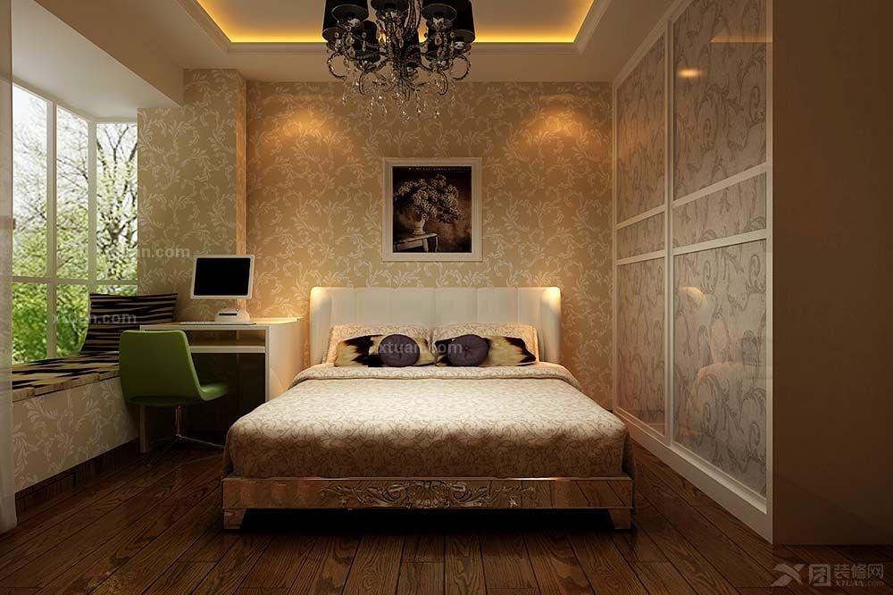 实木衣柜实木床装修效果图  户型:四居室 房间:卧室 风格:简欧风格 装