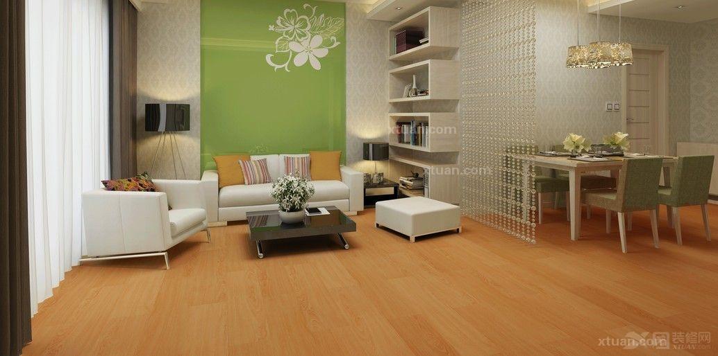 龙叶地板--南美黄橡木室内铺装效果图