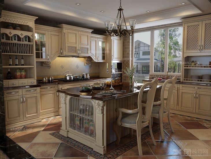 成都实创装饰分享-精美厨房装修设计参考图