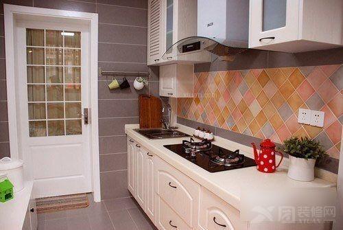 一居室简约风格厨房_绿城巧园装修效果图-x团装修网