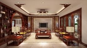 博世园中式样板房装修效果图图片