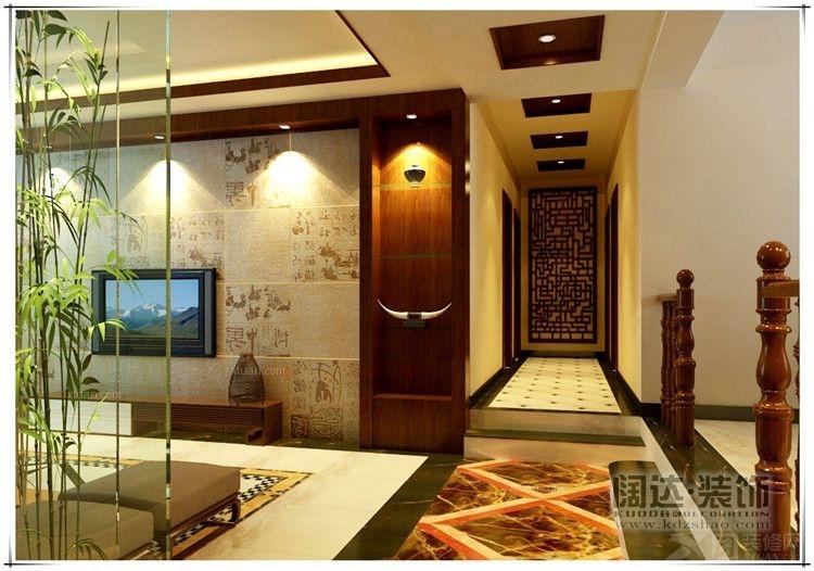 三居室中式风格过道_西山区碧鸡名城125平方米新中式风格e5户型6.图片