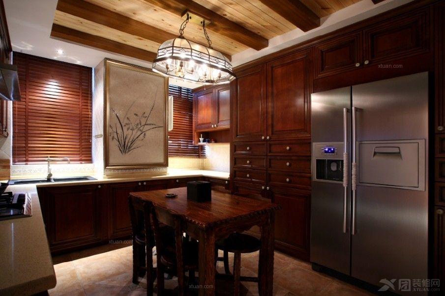 四居室中式风格厨房_大户型的中式风情!~装修效果图-x