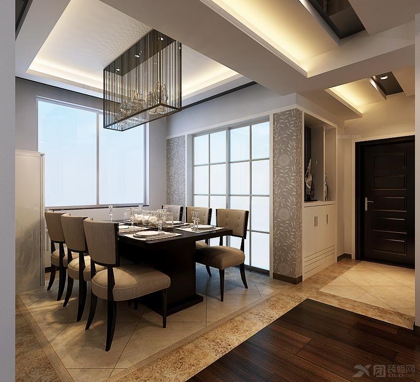 本案的设计为现代黑白色调的设计风格,里面主要用到仿古砖,木地板,灰