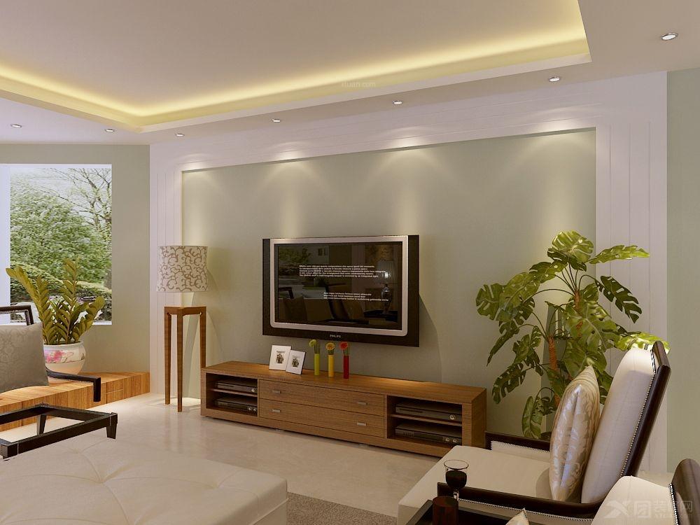 济宁南池公馆三室两厅新中式风格装修效果图 130平三室两厅设计装修图片