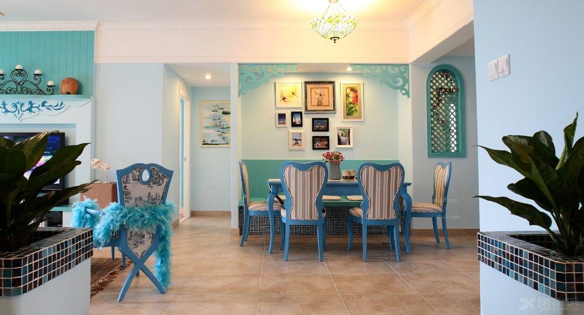 尼德兰花园180平户型地中海风格装修设计方案展示,本案尽展艺术尽展图片
