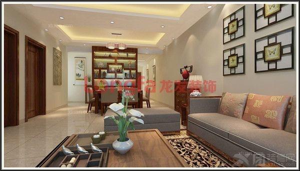 四居室中式风格_半岛半山b1栋05户型中式装修效果图-x