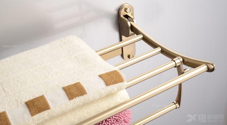 科迪折叠太空铝浴巾架 活动浴室毛巾架