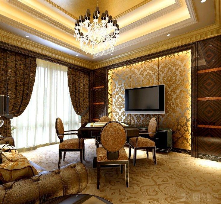 松江高端私人别墅会所欧式风格设计装修效果图