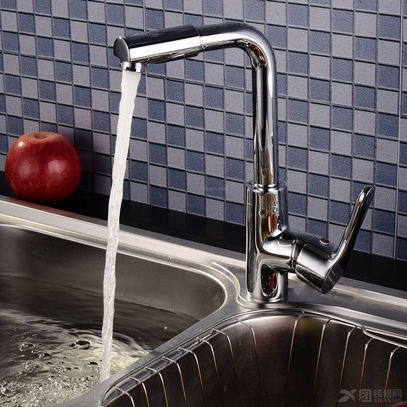 科迪全铜镀铬冷热水龙头 360旋转坐式厨房菜盆龙头A14D