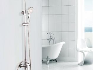 科迪卫浴 高档纯铜时尚淋浴龙头花洒套装可旋转升降淋浴器E28