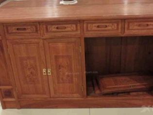 东阳木雕 缅甸花梨  实木餐厅餐边柜 特价 1.5米1.8米
