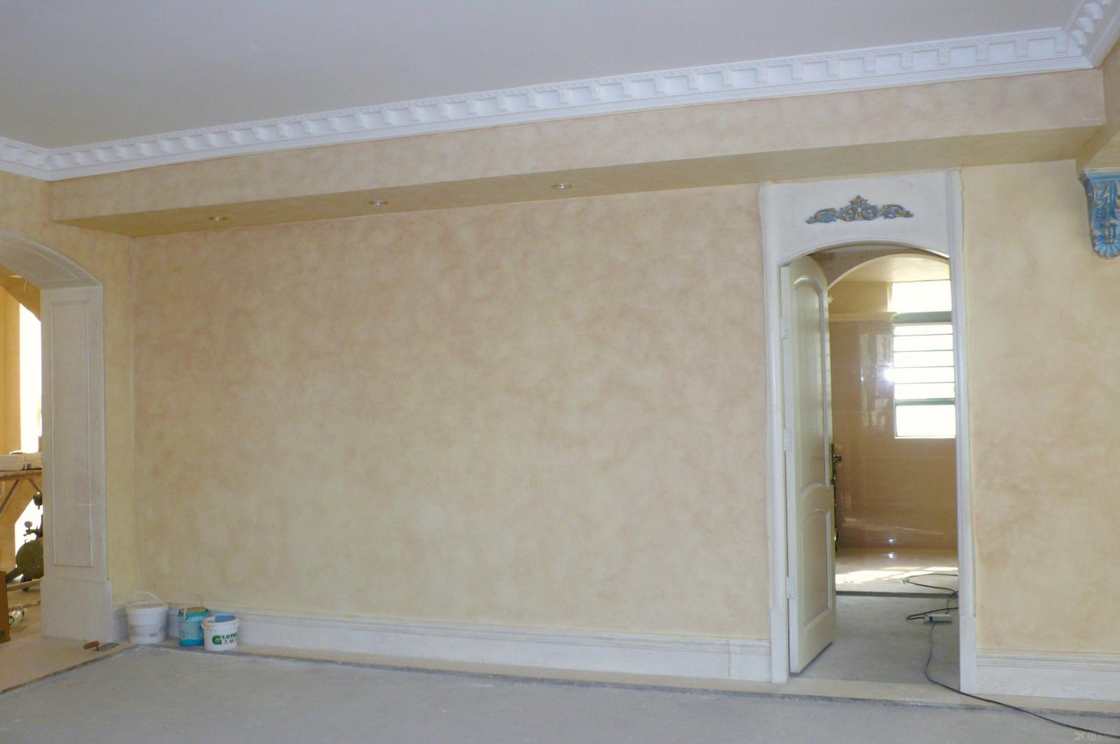 美国现代大师艺术涂料装饰-复式房欧式风格装修效果