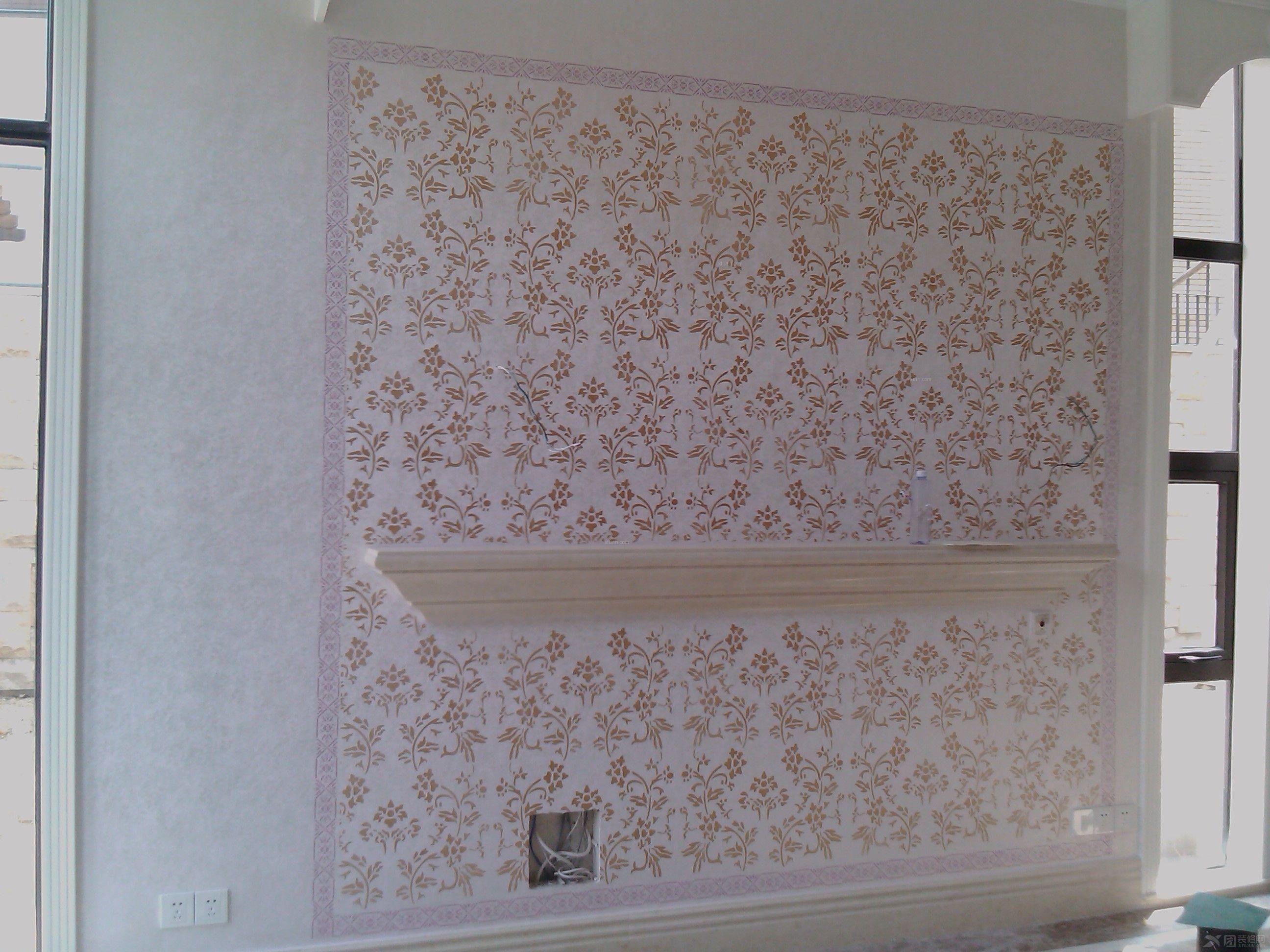 美国现代大师艺术涂料装饰-别墅简欧风格装修效果图