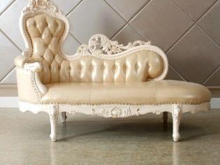 特价★欧式贵妃椅真皮沙发躺椅实木住宅家具