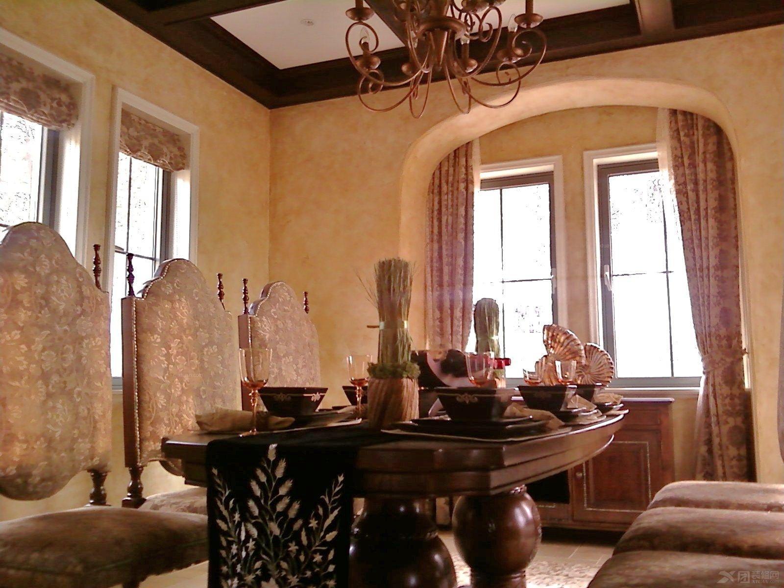 美国现代大师艺术涂料-别墅欧式复古装修效果图图片