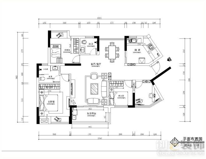 汇东郦城装修效果图,汇东郦城户型设计方案,由南宁装修公司南宁创艺