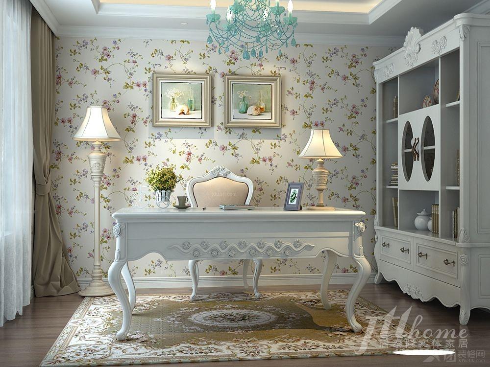 普罗旺斯 清新书房 田园风格装修效果图 清新甜美书房风格 让居室变得图片