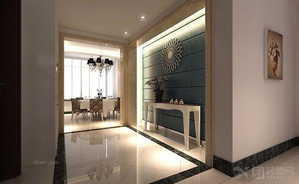 欧式实木鞋柜简约现代白色 创意玄关环保大容量组合鞋架  户型:复式楼