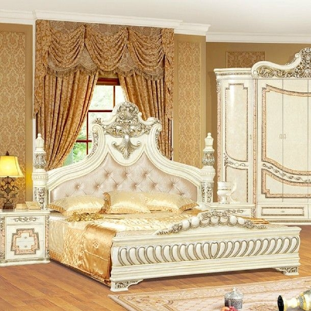 特价正品★欧式实木大床双人床 婚床装修效果图