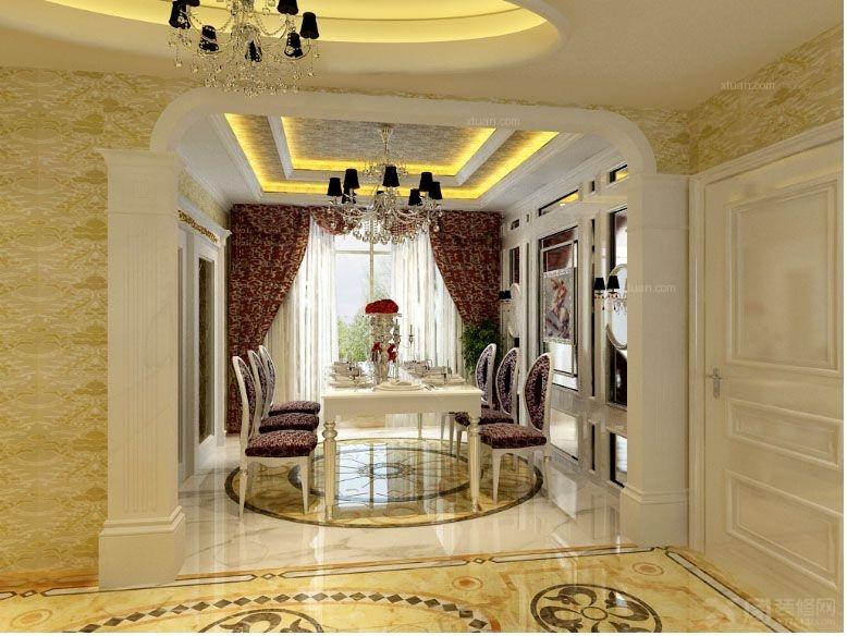 中式餐厅装修效果图  户型:三室一厅