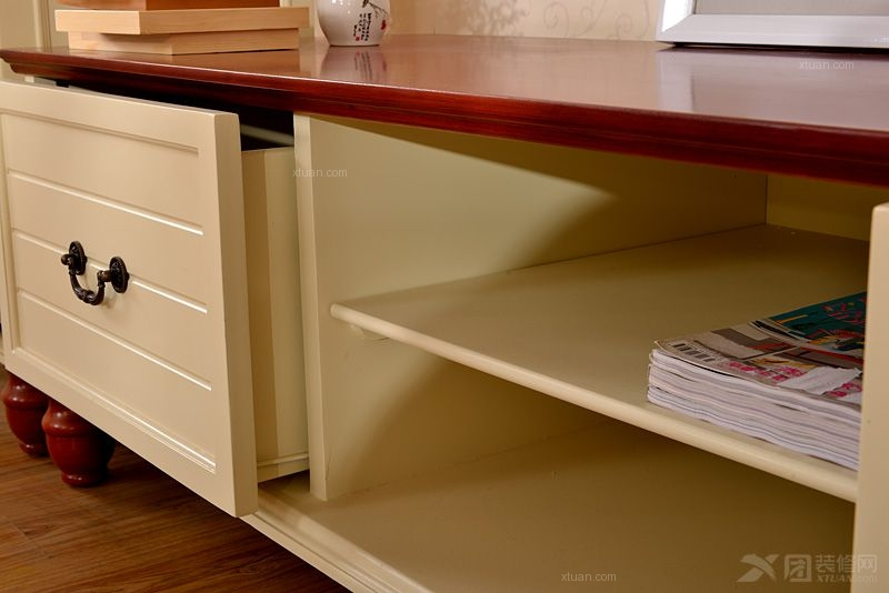 地中海家具 地中海电视柜 美式家具实木视听柜