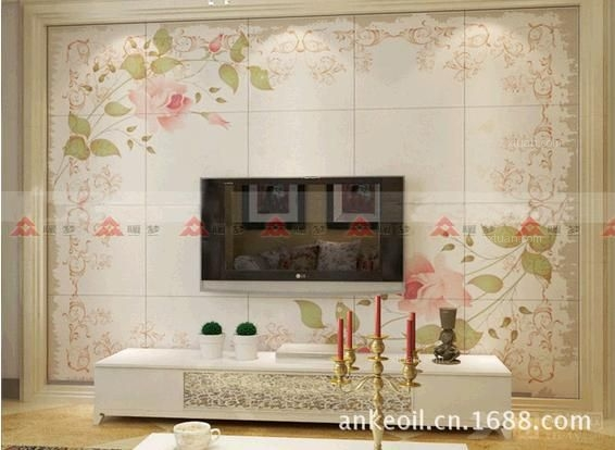 电视背景墙瓷砖画产品效果图