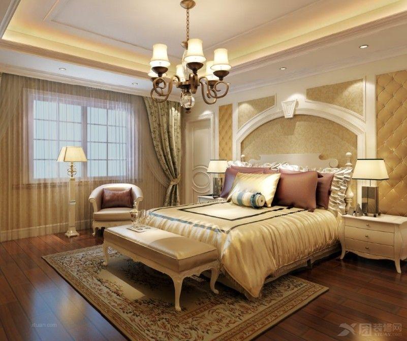 别墅欧式风格卧室_上海玫瑰园小区别墅户型欧式风格