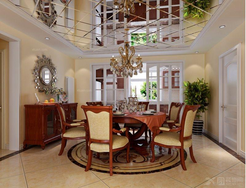汇丽国际,广州实创装饰,混搭风格,140平米装修,欧美混搭风