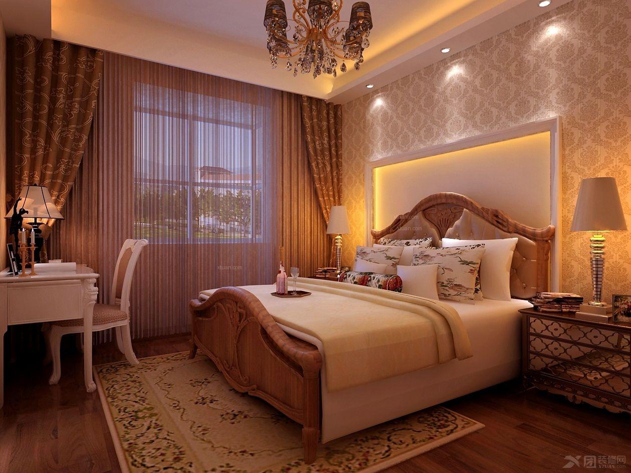 两室一厅简欧风格_华韵天府装修效果图-x团装修网图片