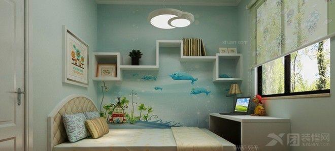 两室一厅_简欧家居装修效果图-x团装修网图片