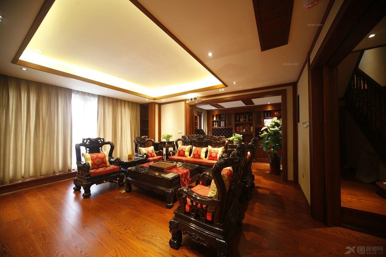 精致奢华300㎡中式别墅设计装修效果图图片