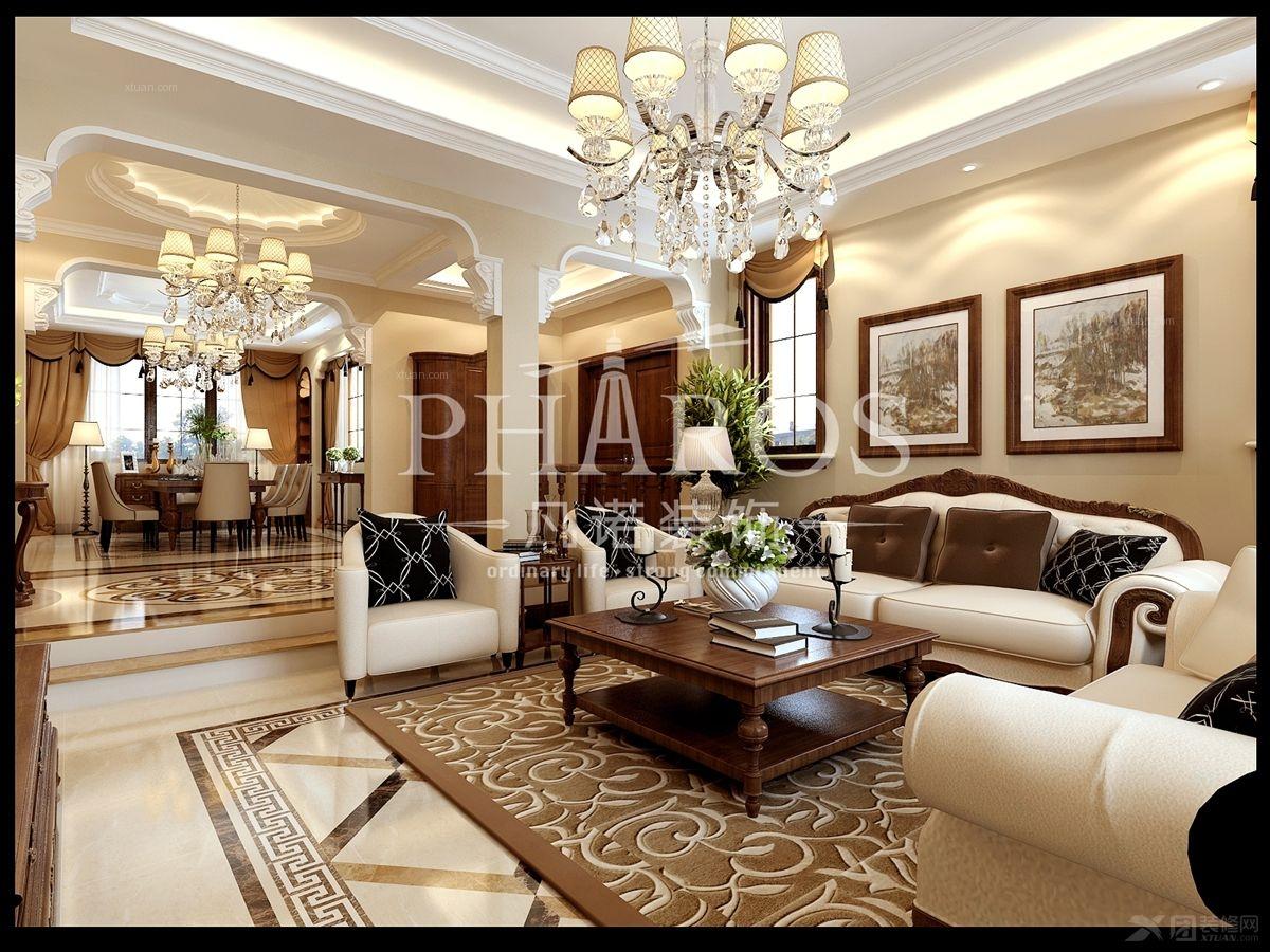 户型:三居室 风格:欧式风格 装修类型:家装 装修方式:全包 青岛凡诺