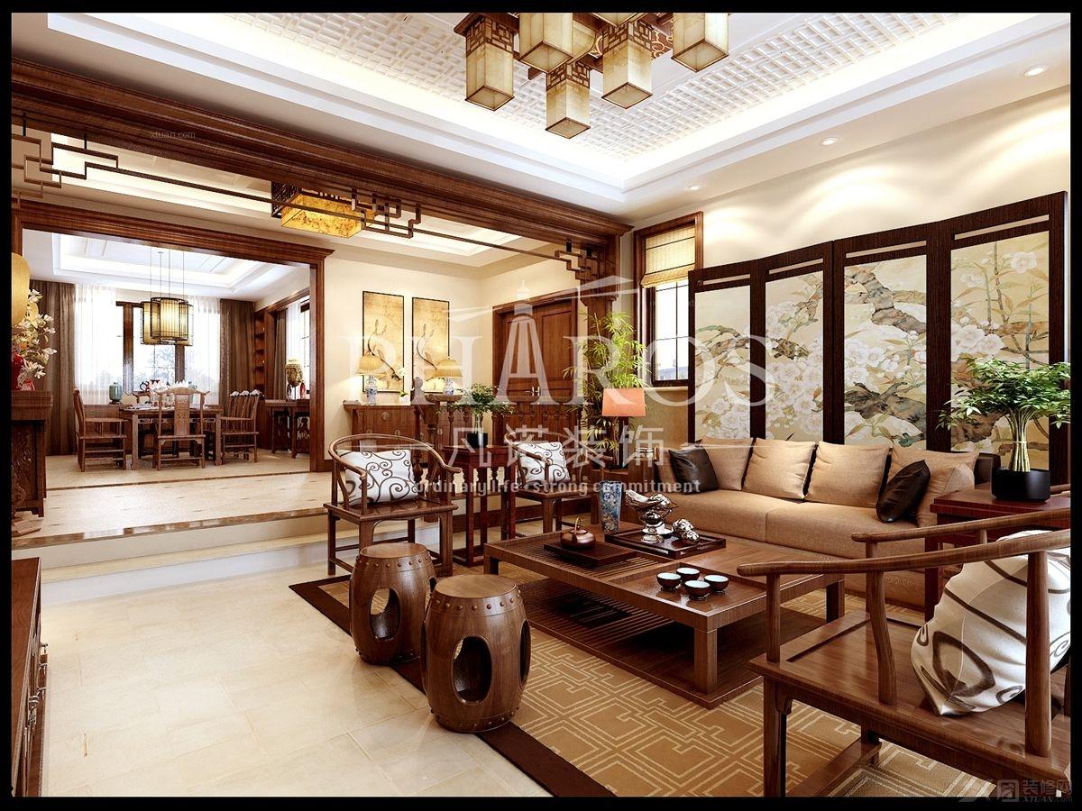 户型:三居室 风格:中式风格 装修类型:家装 装修方式:全包 青岛凡诺