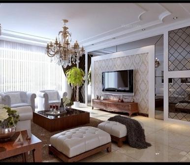 中海明珠 135平三居室欧式风格设计效果图