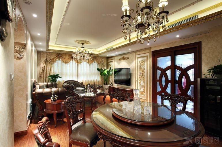 成都尚层装饰保利拉斐400平米欧美风情装修设计案例