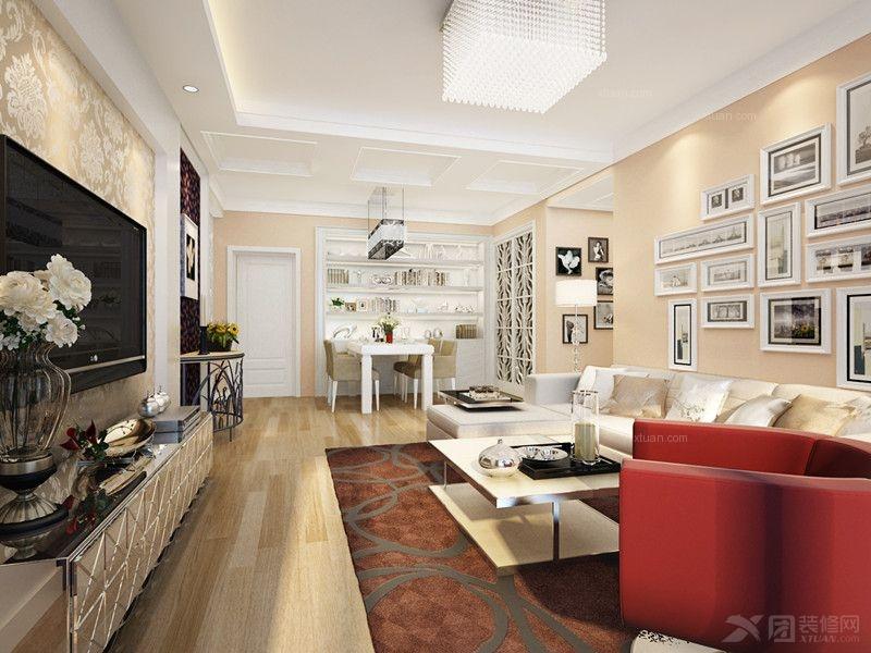 达到浅色为主深色为辅的效果客厅的电视背景墙用艺术