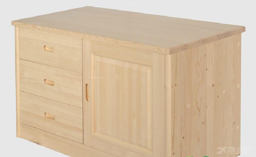 松木抽屉柜 床垫装修效果图
