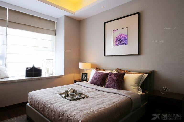 三室两厅现代风格卧室_天府世家现代中式风装修效果图图片